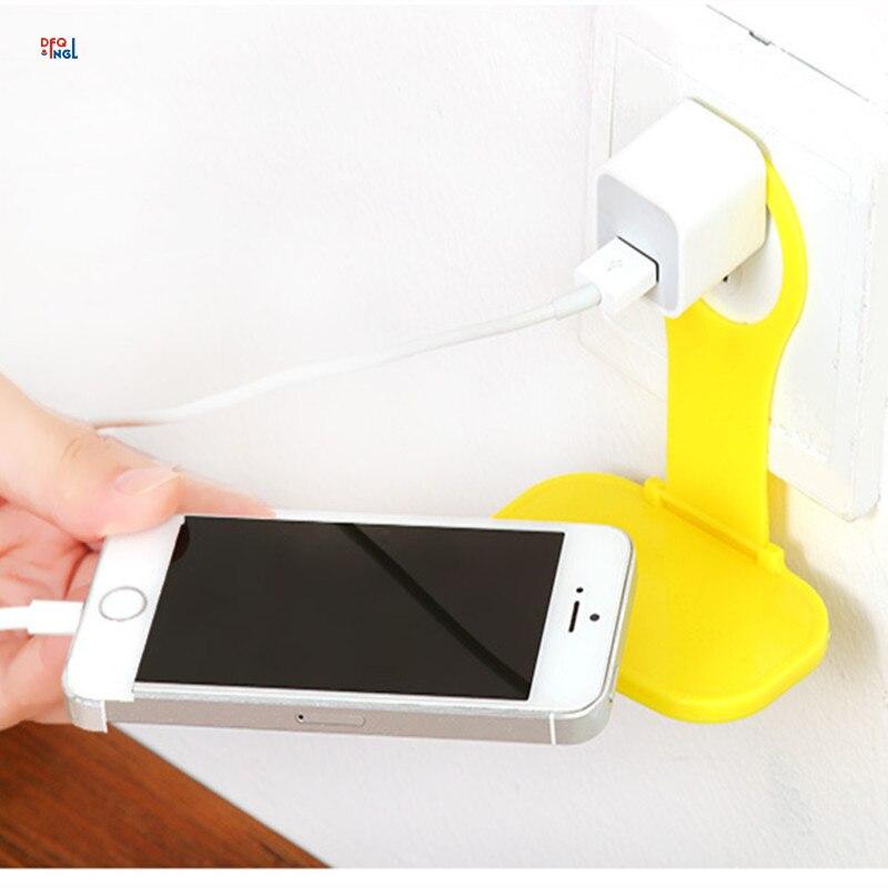 Складной мобильный телефон зарядное устройство адаптер держатель с подзарядкой висит стенд кронштейн поддержка заряд Полка вешалка сотов…
