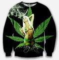 [Amy] roupas 3d folha verde impressão sexy lady camisola homens Populares na Europa e América dos homens 3D hoodies W150