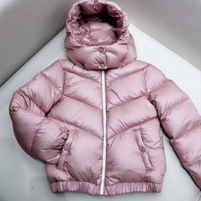 kid down jackets Pink white duck down coat for boys girls autumn winter warm down clothes in middle of Nov цена
