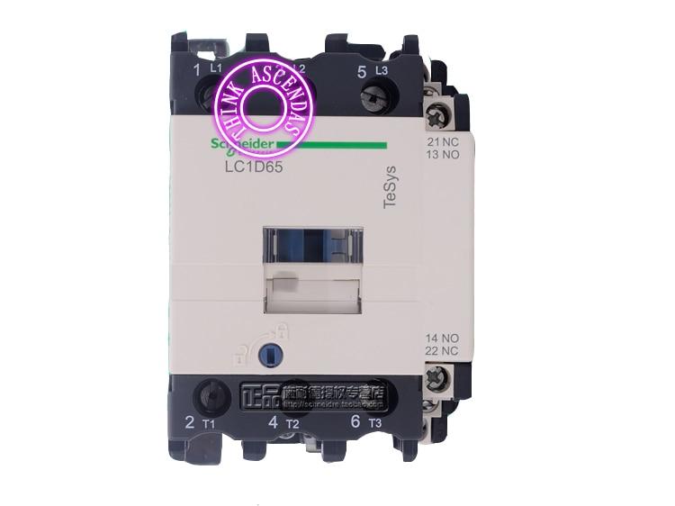 LC1D Series Contactor LC1D65 LC1D65B7 LC1D65C7 LC1D65CC7 LC1D65D7 LC1D65E7 LC1D65EE7 LC1D65F7 LC1D65FC7 127V LC1D65FE7 115V AC new cad50bdc dc24v tesys d series contactor control relay 5no 0nc