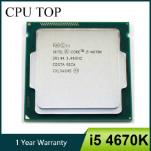 Intel Core i5 4670K 3.4GHz 6 mo Socket LGA 1150 Quad-Core processeur d'unité centrale SR14A(China)