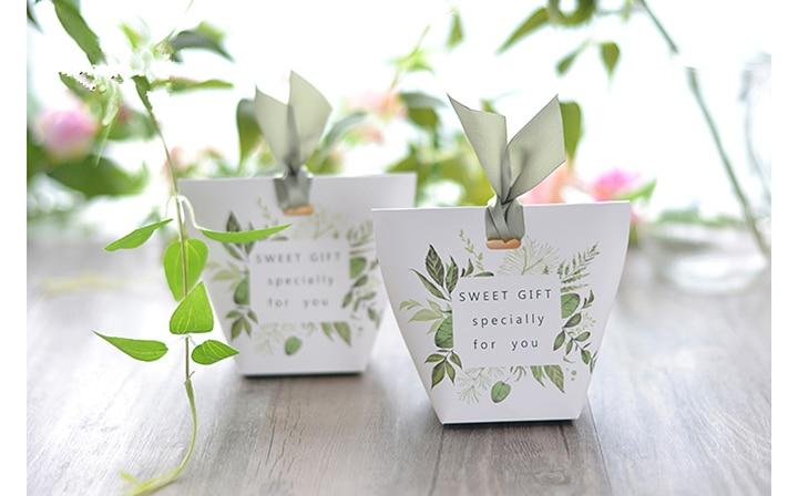 2018 New Romantic Wedding Favors Decor Bowknot Green DIY