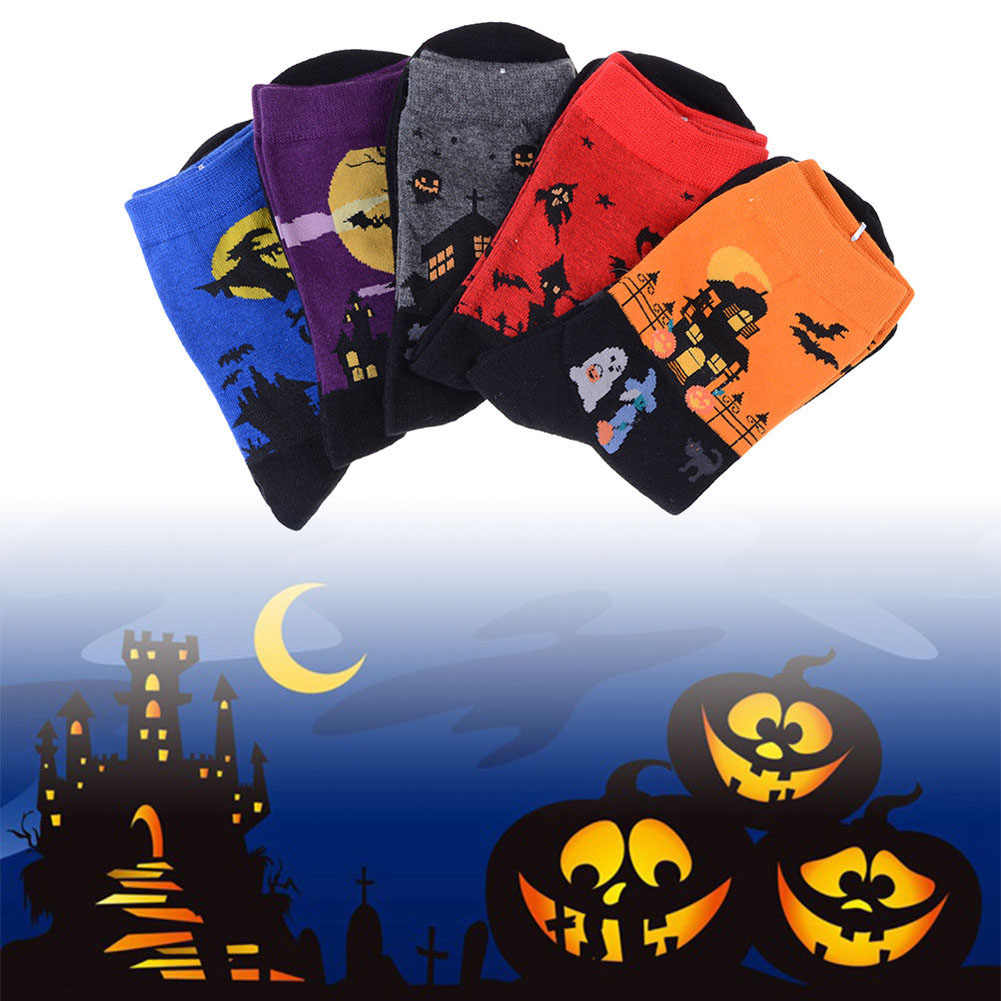 12 pairs /LOT New Fashion Art Cotton Halloween Socks Painting Character Pattern For Women Men Lady Girl Unisex Ankle Hot Sale