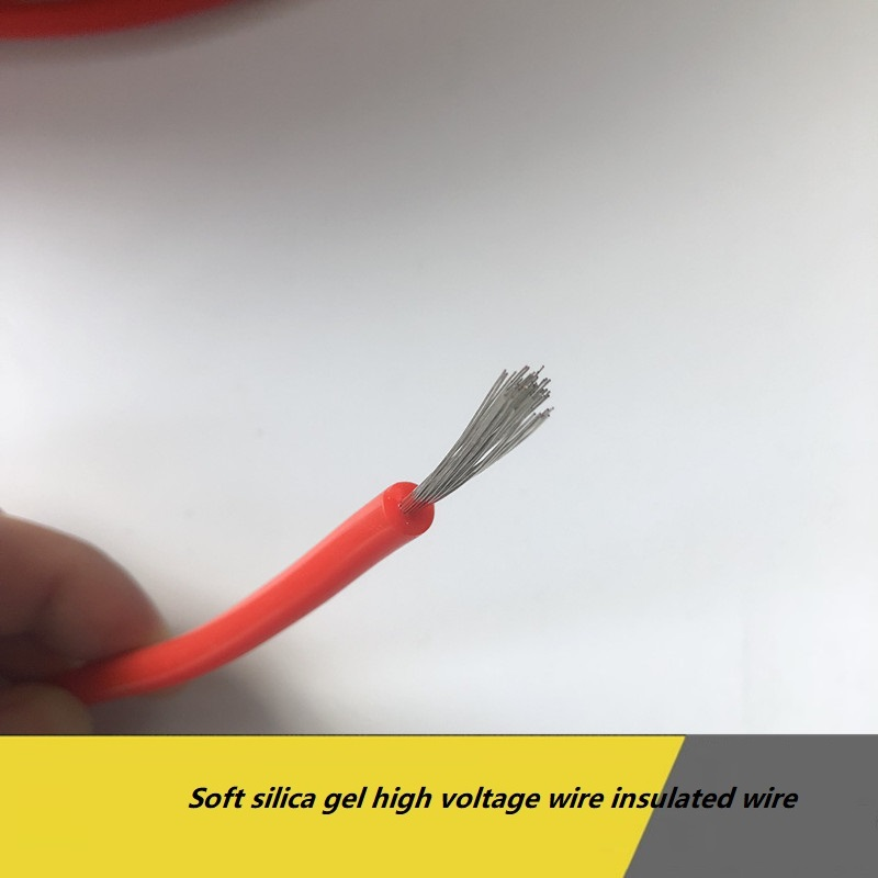 Soft silicon high voltage wire insulated wire 5KV/10KV/15KV/20KV dc high temperature line ignition wire motor lead-in Wires & Cables from Lights & Lighting on AliExpress - 11.11_Double 11_Singles' Day 1
