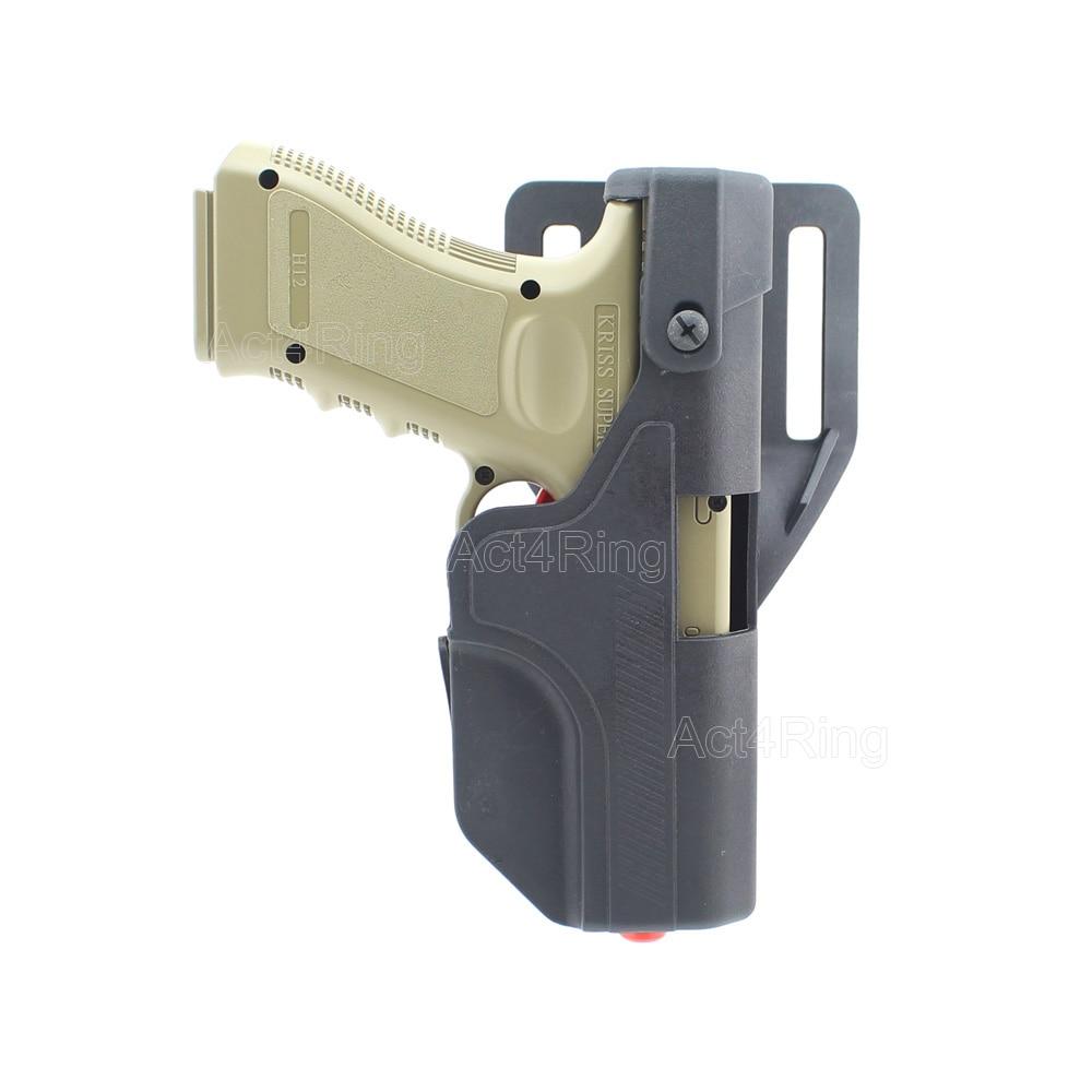 Tactical Auto Loading Holster Level 3 Lock OWB Pistol Holster for Glock 17 19 23 blackhawk tactical gun holster level 3 holster glock with flashlight pistol holster