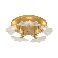 new round glass ceiling lights gold nordic lamp Dia56cm LED luminaire plafonnier living room bedroom light fixtures