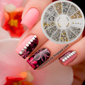 350 unids 2mm Redondo Square Mix Espárragos Piedras Nail Art Decoraciones w/caja de Venta #7278