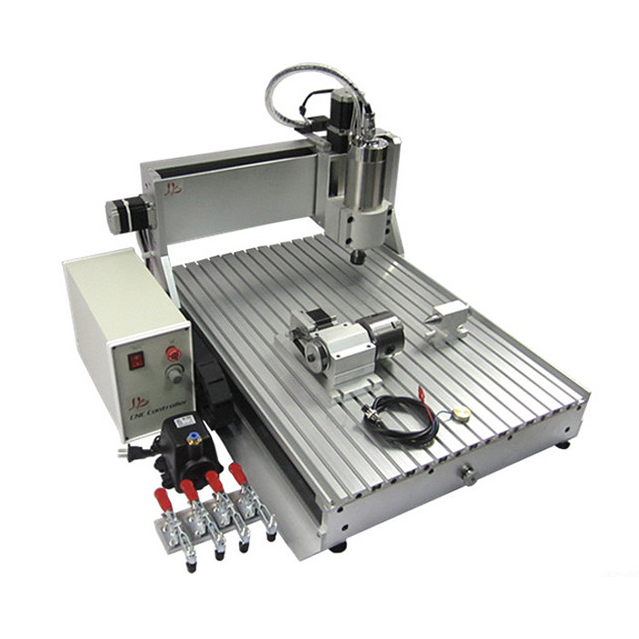 6090 4 axis  CNC Router Engrave with 2.2kw spindle for matal drilling and engraving discount cnc aluminium router 6090