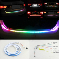47 120cm 59 150cm Car Styling RGB Undercarriage Flowing Dynamic Streamer Car Led Trunk Strip Light