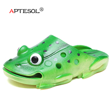APTESOL Women's Summer Animal Prints Slippers Children's PVC Non-slip Flip Flop Women's Outdoor Indoor Platform Flat Frog Shoes