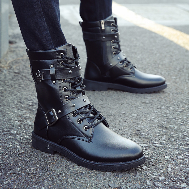 Casual Shoes 2018 Fashion Winter High Gang Male Martin Boots High Quality Soft And Comfortable Flat Bottom Male Martin Boots