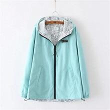 Autumn Spring Basic Jacket Women Hooded Two Side Wear Jaquet