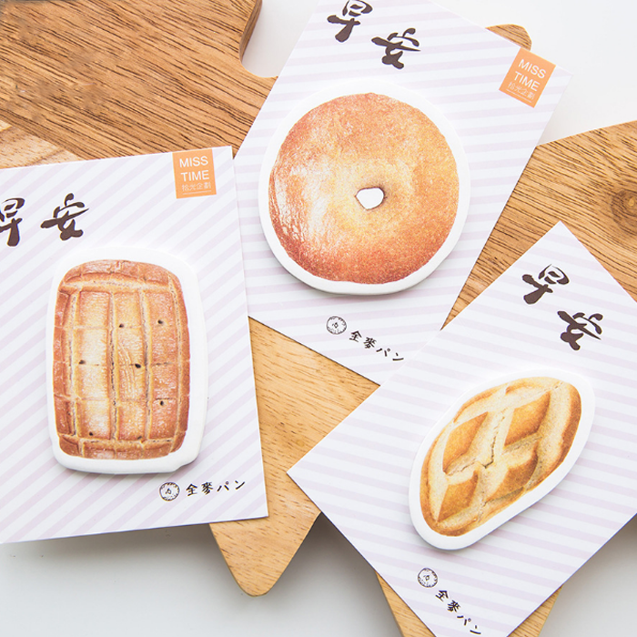 4Pack Beautiful Good Morning Breakfast Biscuits Memo Pad N Times Notepad Sticky Notes Memo Gift Stationery Retail