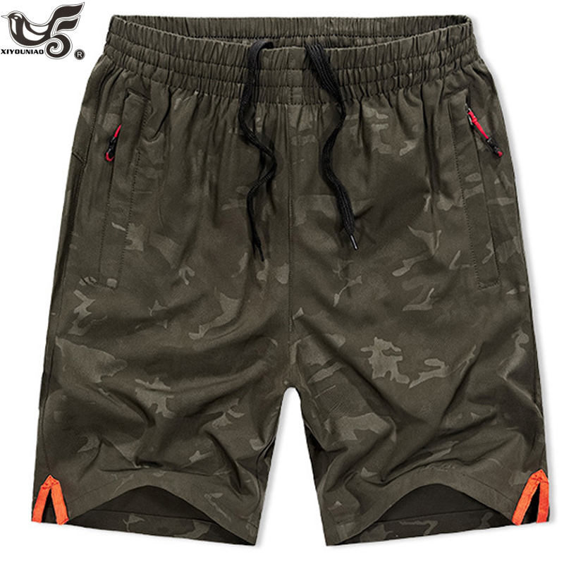 XIYOUNIAO Plus Size L~7XL 8XL New Men's Shorts Summer Mens Beach Shorts Military Camouflage Casual Male Breathable Board Shorts