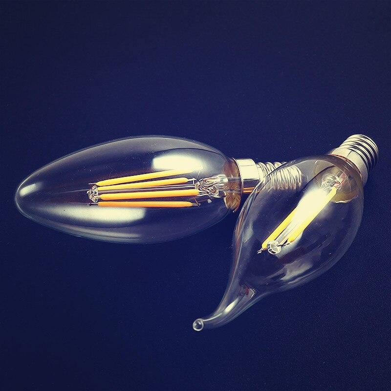 100pcs 2W 4W E14 220V 230V 240V LED ceiling chandelier led bulb for Home Decorationclear grass Edison light bulbs Filament Bulb