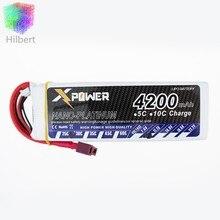 T Plug 4200 Mah 11.1 V 3 S 30C li-po Batterie Pour RC Hélicoptère Qudcopter Drone Camion voiture Bateau Bateria