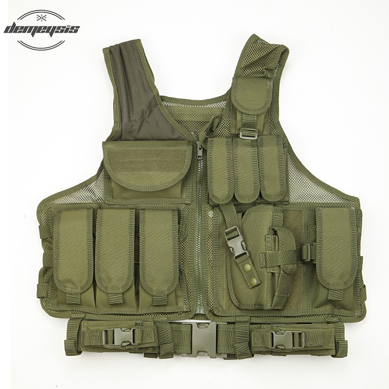 Army Combat Tactical Vest Military Protective Airsoft Camouflage Molle Vest Outdoor Hunting Training Tactical Vests