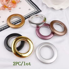 Plastic Rings Eyelets For Curtains Home Decoration Round Shape Curtain Ring For Eyelet Curtain Blinds Circle Slide Rings 2PC/lot(China)