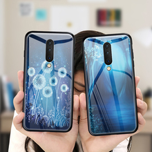 Tempered Glass Phone Case For Oneplus 7 Pro 6 6T 5 5T Luxury Blue Dreamland Back Cover