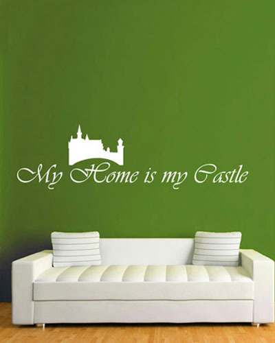 DCTOP Simple Design Living Room Wall Art Decals My Home Is My Castle Wall  Sticker Quotes