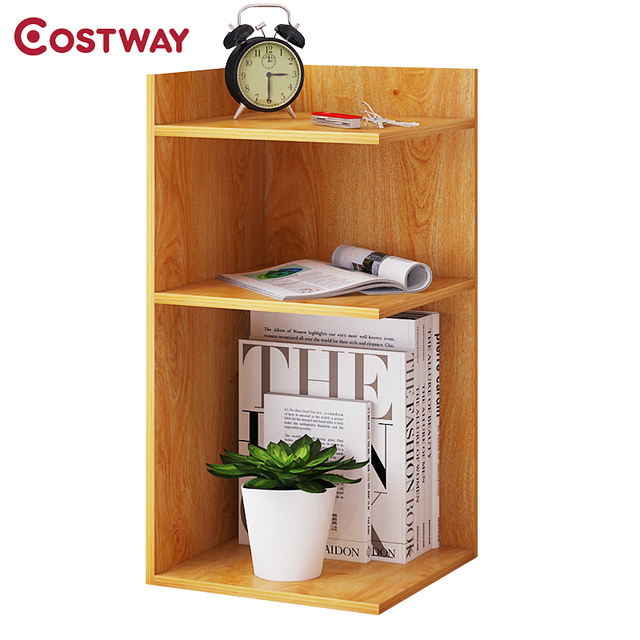costway fashion simple wooden bookshelves dormitory bedroom storage rh aliexpress com simple wooden shelf in garage simple wood shelves