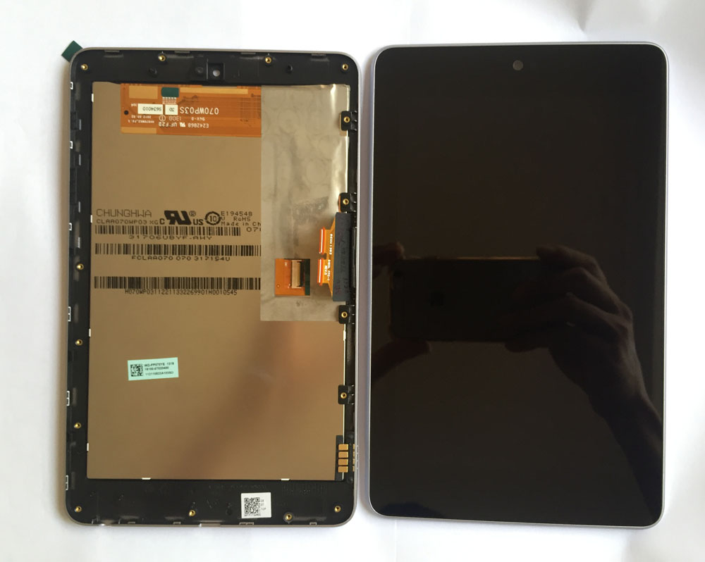 high quality  LCD display+Touch Digitizer Screen with frame for ASUS Google Nexus 7 nexus7 2012 ME370T wifi  free shipping original top cover shell with flash board top lcd fpc unit for nikon d7200 camera repair replacement part