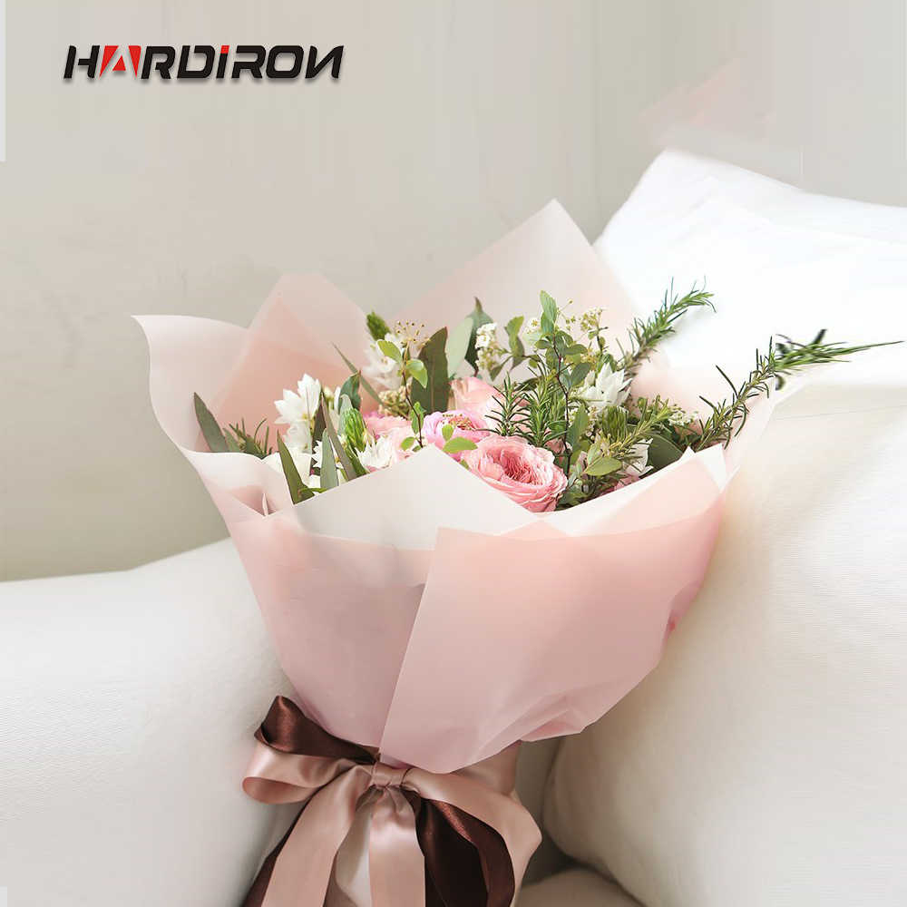 HARDIRON Flowers Bouquet Wrapping Paper Light Color waterproof Flowers Packaging Paper Materials Florist Supplies