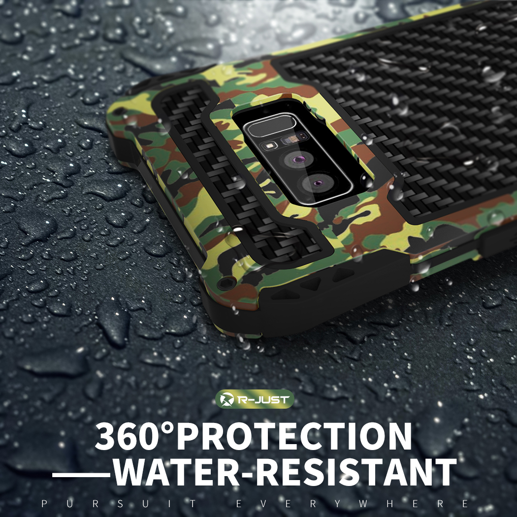 360 Full Protection Rugged Case For Samsung Galaxy Note 8 Hard Cover Metal Silicone Military Grade Skin Protector Outdoor Sports in Fitted Cases from Cellphones Telecommunications