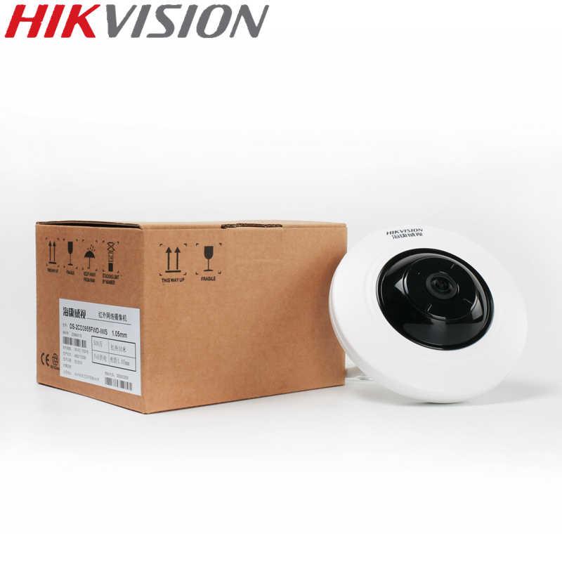 HIKVISION DS-2CD3955FWD-IWS 5MP рыбий глаз камера 360 вид ip-камера поддержка WiFi SD карта PoE IR Hik-подключение P2P приложение