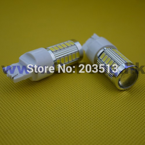 50pcs/lot wholesale Auto car lighting T20 WY21W W21/5W 33 smd 7443 33 leds 5630SMD nice color bulb Free shipping