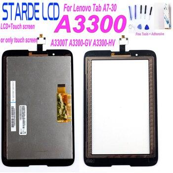 цены For Lenovo Tab A7-30 A3300 A3300T A3300-GV A3300-HV LCD Display Touch Screen Digitizer Sensor Glass Screen Panel Monitor