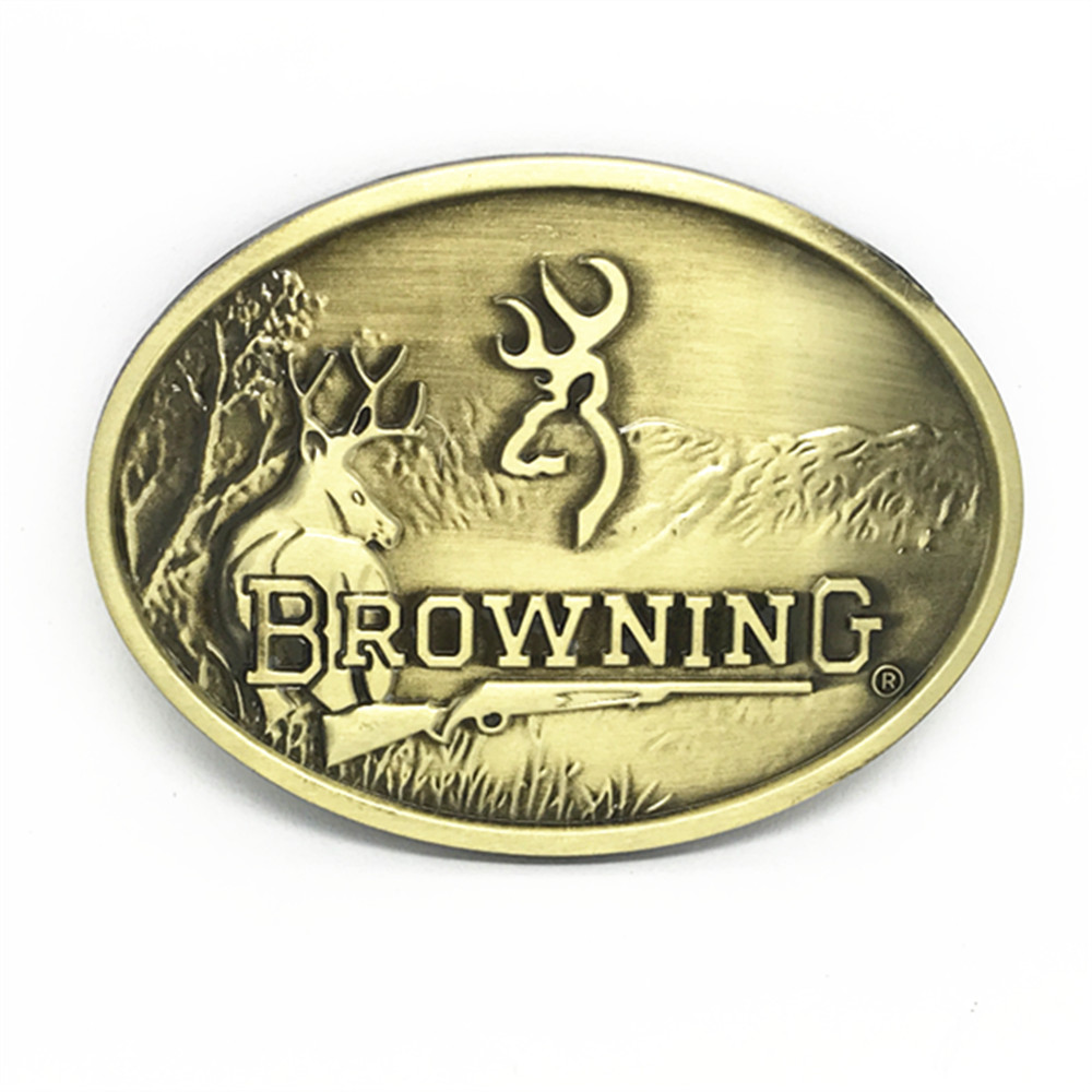 5 PCS Wholesale BROWNING Belt Buckles Oval Western Belt Buckle Metal For Men Accessories Free Shipping
