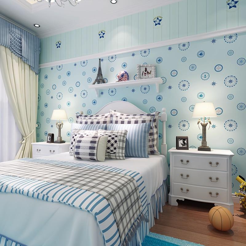 Non Girly Bedroom Ideas: Non Woven Bedroom Bedroom Wallpaper Children 's Room