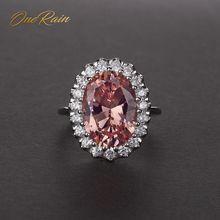 OneRain luksusowe 100% 925 Sterling Silver owalny krój Sapphire ametyst Topaz kamień pierścionek zaręczynowy pierścionki dla par biżuteria hurtowych 5 12