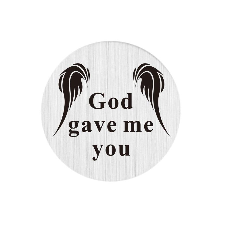 22mm stainless steel locket backplate god gave me you living memory floating locket plate