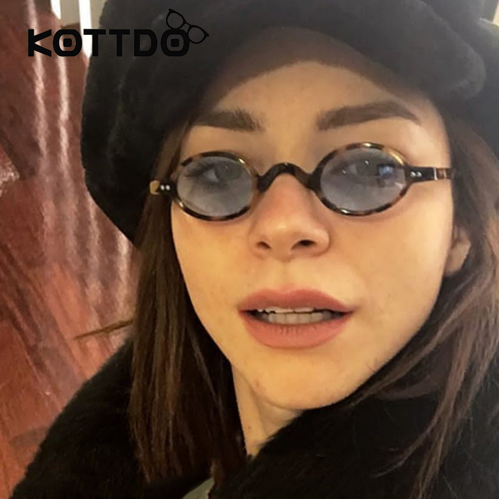 KOTTDO Small Round Sunglasses Brand Designer Women Vintage