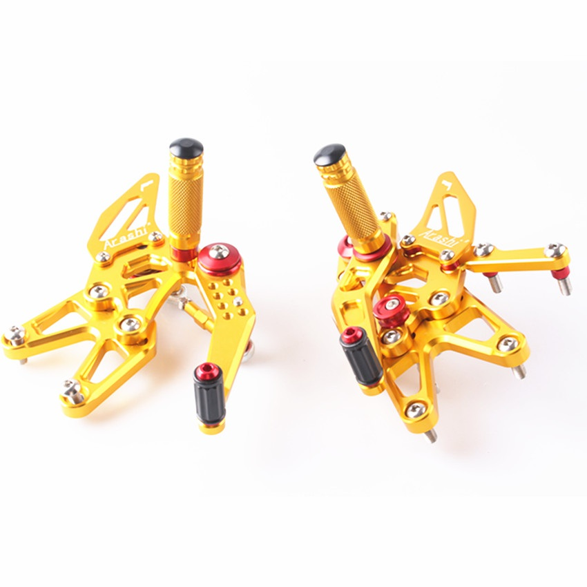 Gold For Triumph Daytona 675 2013-2018 14 15 16 17 CNC Adjustable Rearset Foot Pegs Pedals
