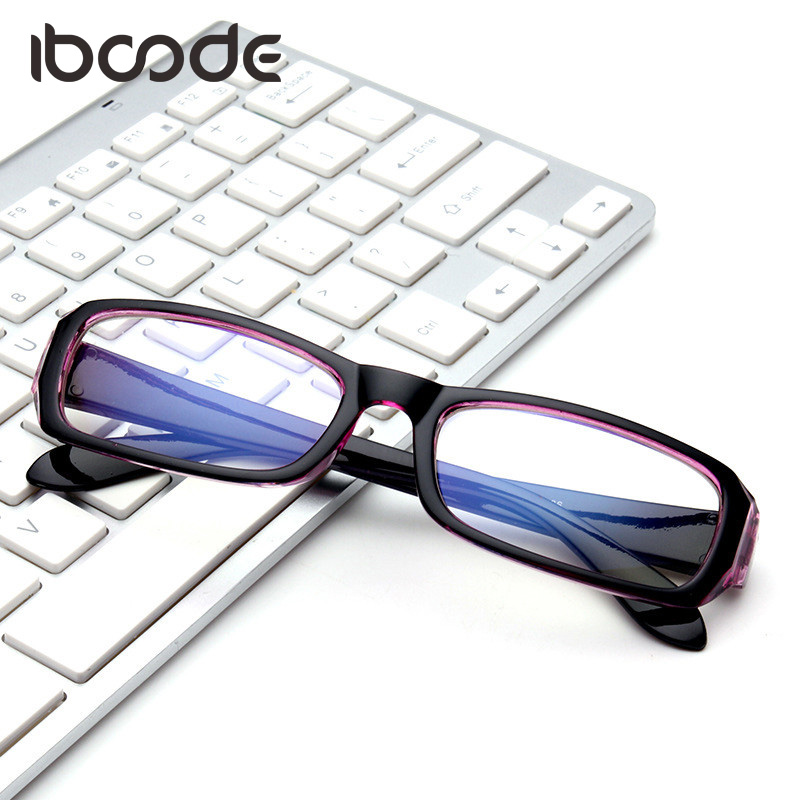 e1721c7f6051c Iboode Clássico Filme Azul de Surf Óculos Óculos de Armação Limpar Lens  Óculos de Computador Anti