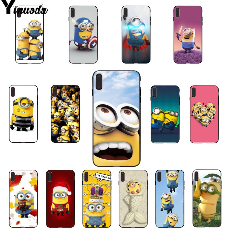 Yinuoda Yellow Minions DIY Painted Beautiful Phone Accessories Case for iPhone X XS MAX  6 6s 7 7plus 8 8Plus 5 5S SE XR