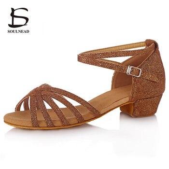 Förderung Hohe Qualität Tango Marke Neue Latin Dance Schuhe Für Kinder Mädchen Frauen Kinder Damen Ballsaal Tanzen Schuhe Mädchen 3,5 cm