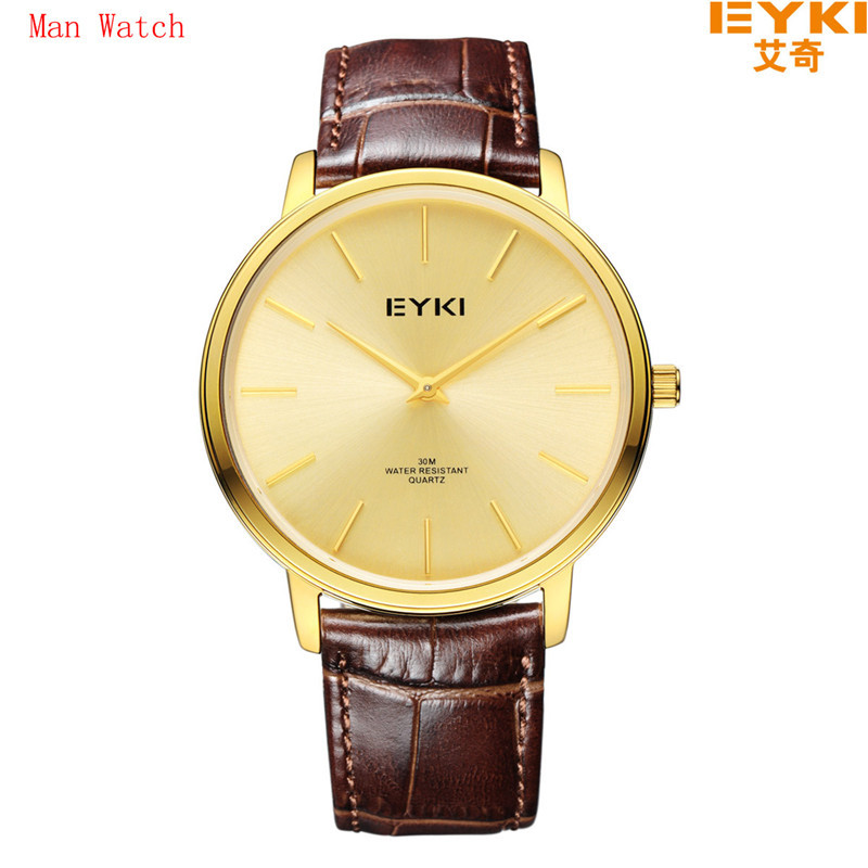 Leather Adjustable Watch Eyki Fashion automatic japan movt quartz watch stainless steel smart men watch with woman-EET1003LS