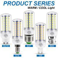Bombilla LED GU10, lámpara de mazorca de maíz de 220 V, E14, E27, tipo vela, G9, B22, de 3, 5, 7, 9, 12 y 15 W, iluminación de candelabro de 240V