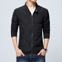 Spring Summer Autumn Men S Jacket Thin Solid Fashion Coats Male Casual Slim Stand Collar Bomber