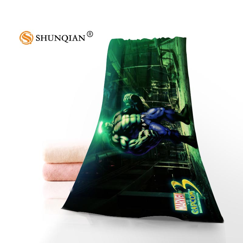 Hot Custom The Hulk Avengers Towel Printed Cotton Face/Bath Towels Microfiber Fabric For Kids Men Women Shower Towels A7.24-1