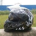 2016 Novo inverno lentes duplas motocross capacete da motocicleta rosto cheio de moto capacetes de ABS 322 CRÂNIO cor tamanho M L XL XXL