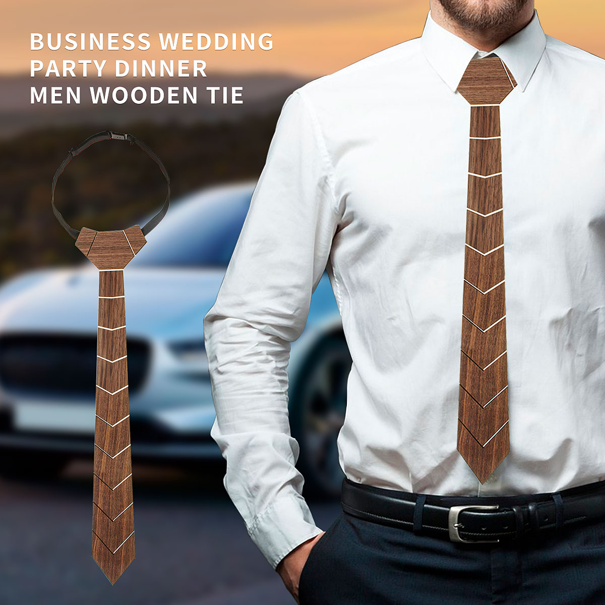Collapsible Fashion Wooden Tie 100% Hand Made Classic Paisley Ties For Men Formal Wear Wood Tie Wedding Men Gift Suit Decoration