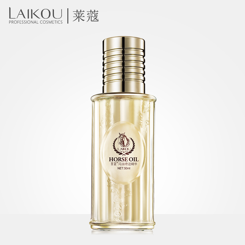 LAIKOU Horse Oil anti aging scar face Hyaluronic Acid Essence Face Serum whitening moisturizing 50ml skin care whitening serum bisutang horse oil essence skin care set oil control face cleanser moisturizing whitening toner face cream serum eye cream