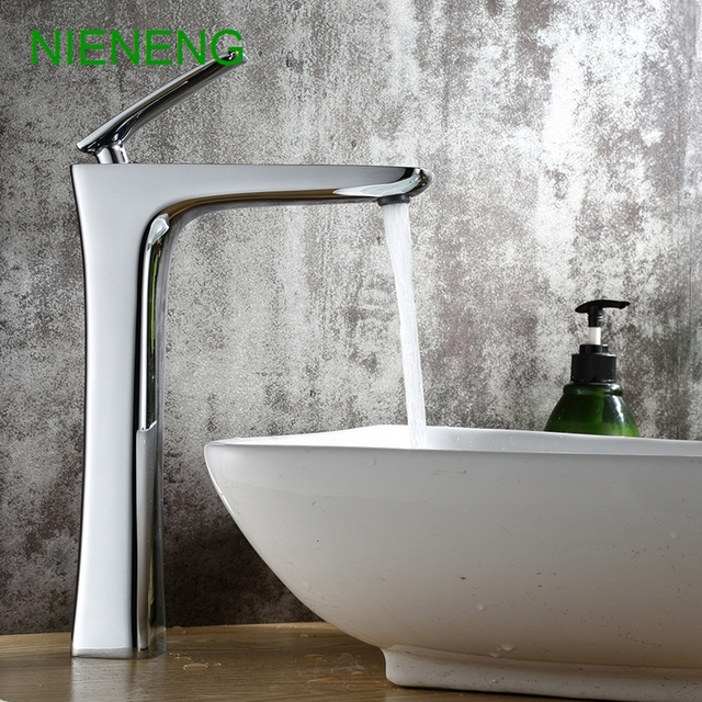 NIENENG basin sink bathroom copper tap chrome faucet lavatory toilet ...