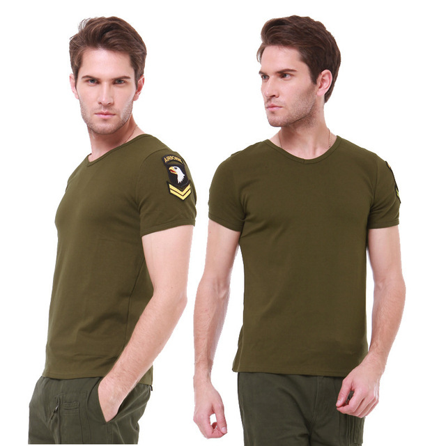 Camouflage Military US Army Tactical V Neck T Shirt Men Brand Famous Fitness Slim Fit Compression Cotton tshirt Male T-Shirt 3XL