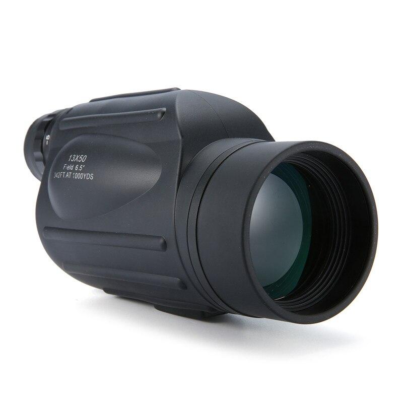Hot 13x50 Handheld HD Monocular Spooting Scope Waterproof Eyepiece Adjustment Wide Angle Telescope with Rangefinder Function lixf uyigao monocular laser rangefinder handheld telescope 5 x 600m